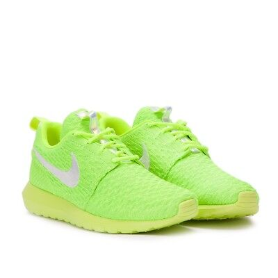 49ae4f9639fc Nike Roshe NM Flyknit One Run Volt Green Mens Running Shoes Sneakers 677243 -701