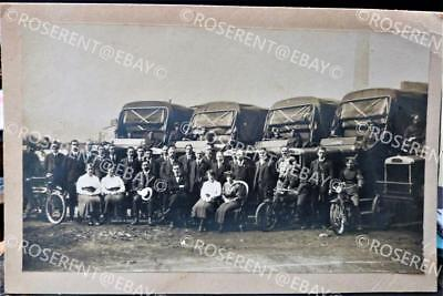 WW1 RFC Motor Transport section & Motorcycle Despatch riders- photo 30 by 18cm