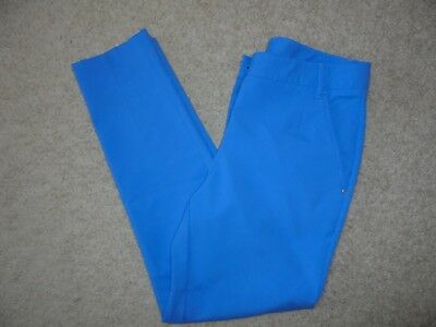 Sz 4 Women PUMA GOLF 3% Stretch Polyester Pants Slim PERIWINKLE BLUE Wicking 57f0ae938e