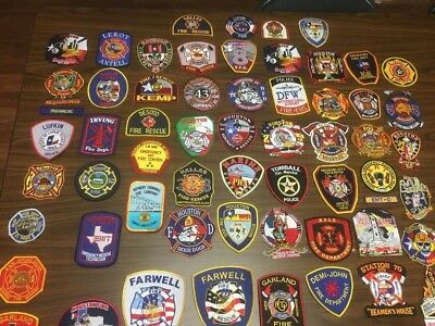 Super Lot Of 60 Texas  Fire Related  Patches  Super Lot