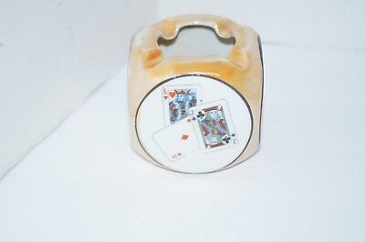 Glassware Playing Cards Ashtray Japan
