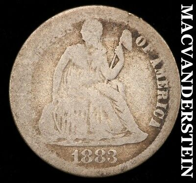 1883 Seated Liberty Dime - Scarce!!  Better Date!!  #c6052
