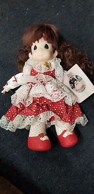 """Precious Moments Doll Rachel 16"""" 1992 Sweetheart Series with Locket"""