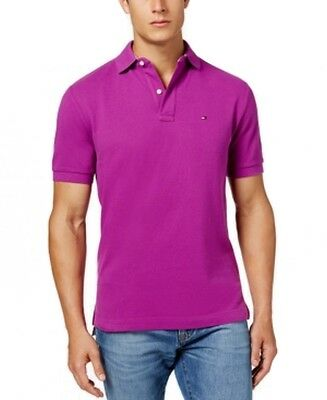 Tommy Hilfiger NEW Hollyhock Purple Mens Size 2XL Polo Rugby Shirt $59 #101