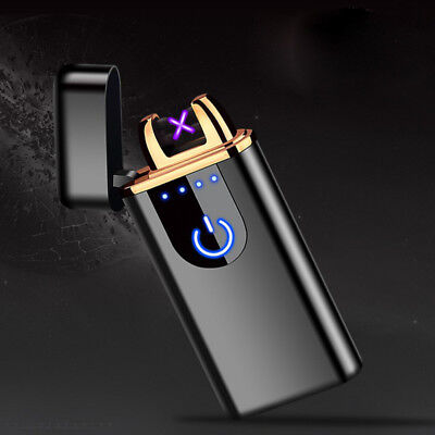 Windproof Lighter Electric Double Flameless Plasma Torch Usb Rechargeable Gifts