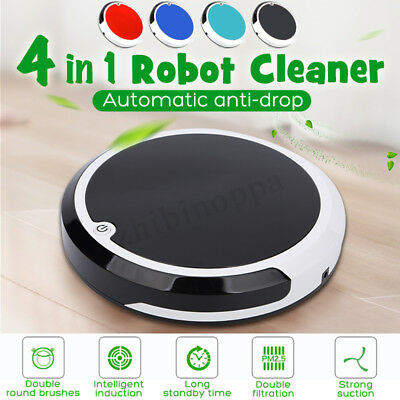4 in 1 Rechargeable Strong Suction Sweeping Smart Clean Robot Vacuum Cleaner