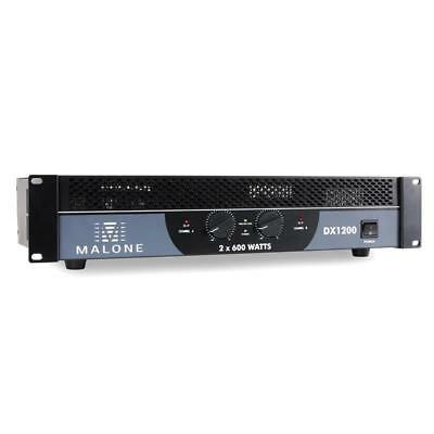 Ampli Pa Malone Dx 1200 Mosfet 1200W Rack 48Cm Bridgeable 1/2 Canaux Ground Lift