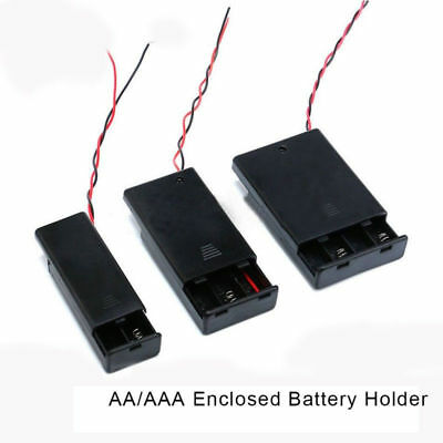 1/5/10PCS Enclosed Battery Box Holder Carrier Holder AA/AAA with Switch Wires