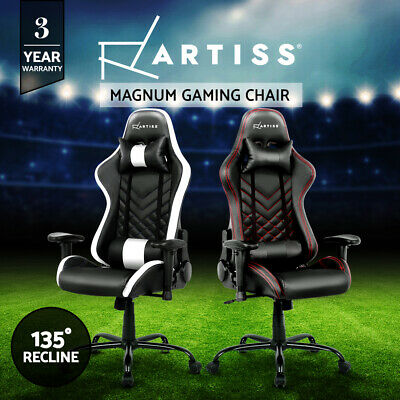 Gaming Office Chairs Computer Racing Recliner Executive PU Leather Racer Seating