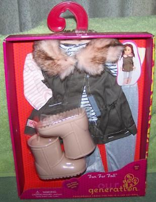 """Our Generation FUN FUR FALL Outfit for most 18""""H Dolls New"""