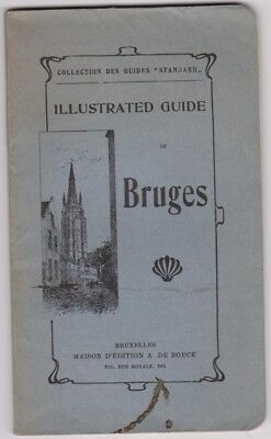 Bruges Illustrated Guide - Early Belgium Tourist Book
