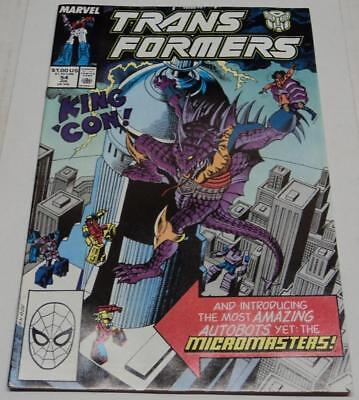 TRANSFORMERS #54 (Marvel Comics 1989) 1st app of MICROMASTERS (FN/VF) RARE