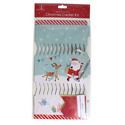 Christmas Cracker Kit DIY 6 Pack Make your Own - Santa