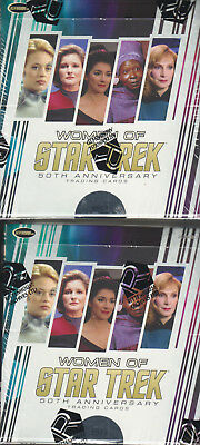 The Women of Star Trek 50th ANNV  - 2 (TWO) Factory Sealed Trading Card Boxes