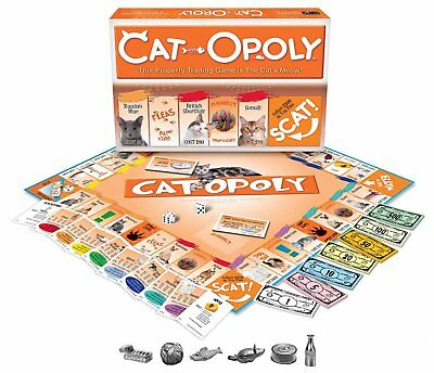Cat Opoly-Late for the Sky- A perfect gift for all cat lovers- Free Shipping NEW