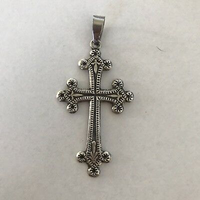 ViNTaGe Danecraft Sterling Silver 925 Cross 10 Gr. Ornate Pendant