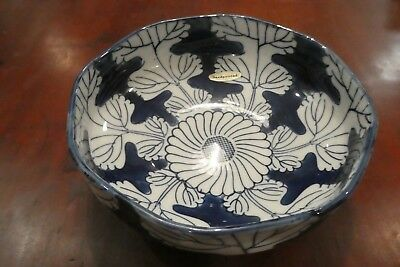 ANTIQUE-Vintage BLUE & WHITE CHINESE bowl HAND PAINTED old EXCELLENT