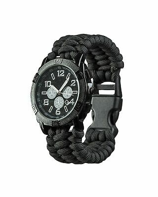 Army Uhr 'paracord' Schwarz Outdoor Military Fashion Airsoft Paintball