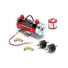 Facet Fuel Pump Kit Competition Red Top Electric 480532E 6.5-8 PSI 8mm Unions