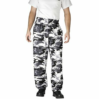 New Chefwear Men's Ultimate 100% Cotton Baggy Chef Pants Camouflage XS-5XL