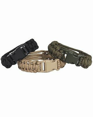 Paracord Uhrenarmband Coyote Army Military Outdoor Fashion Airsoft Paintball