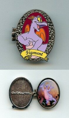 Disney Marquee Locket Series Figment at Epcot Spaceship Earth Hinged LE Pin