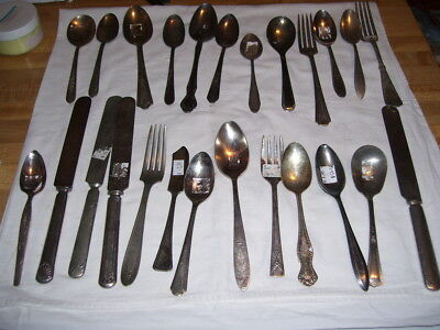Lot #22R Vintage Silverplate Flatware Mixed Brands