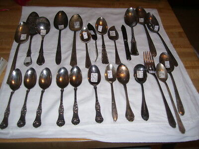 Lot #26R Vintage Silverplate Flatware 1881 Rogers + More