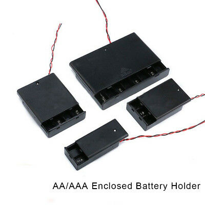 AA/AAA x 1/5/10PCS Enclosed Battery Holder Storage Case Box With Switch Wires UK