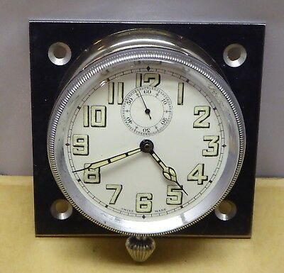 All chrome vintage car dash clock, good condition, all working well, 63mm bezel.
