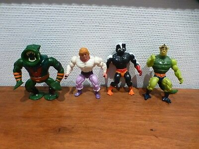 Masters of the Universe MOTU vier Figuren - Whiplash, Leech, Stinkor, Adam