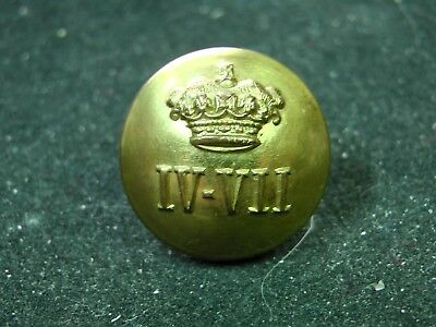 Post 1922 WWII British Army 4th/7th ROYAL DRAGOON GUARDS 19mm COATEE BUTTON PITT