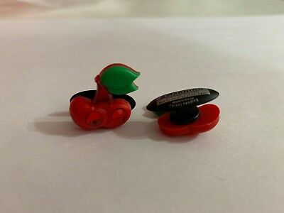 Red Cherries with Bling Shoe-Doodle For Rubber Shoes or Crocs Shoe Charm PSC1127