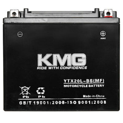 YTX20L-BS KMG Maintenace Free 12 Volt Battery Powersport Sportbikes Cruisers SMF