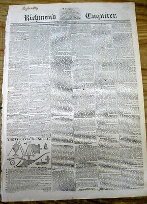 1820 Virginia newspaper w 1st organized effort SEND FREED SLAVES BACK TO AFRICA
