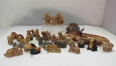 WADE WHIMSIES 1970-84/ Turtle Trinket Box/Bird Trinket Tray/30 Pieces - R14