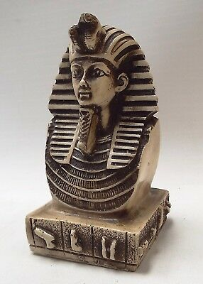Egyptian Pharaoh TUTANKHAMUN Resin Bust Sculpture - N22