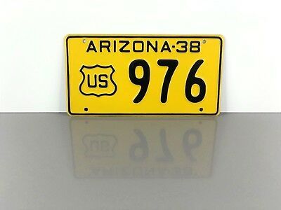 "Vintage 1938 ARIZONA ""U.S. Government"" LICENSE PLATE TAG #976 ~AZ Forest Service"