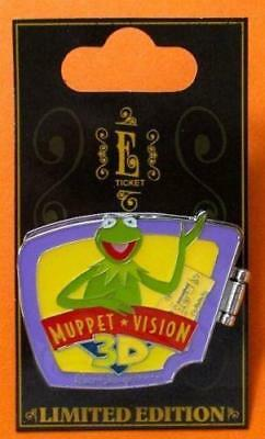 Disney Pin WDW  E Ticket Attractions  Kermit Sweetums Bunny Muppet Vision 3D NOC
