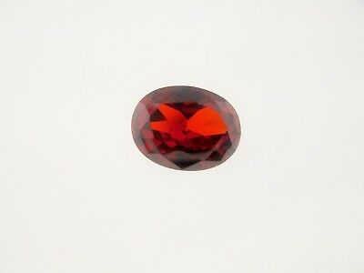 1.39ct Loose Oval Cut Lab Created Garnet Gemstone 8 x 6mm