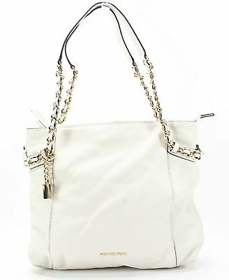 87bb514ce85f Michael Kors NEW White Gold Remy Medium Leather Shoulder Tote Bag $298- #034