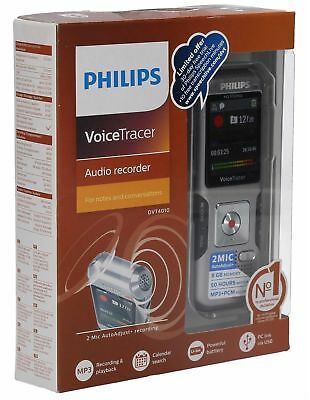 NEW Philips Voice Tracer Audio Recorder DVT4010 With Auto Adjust Recording