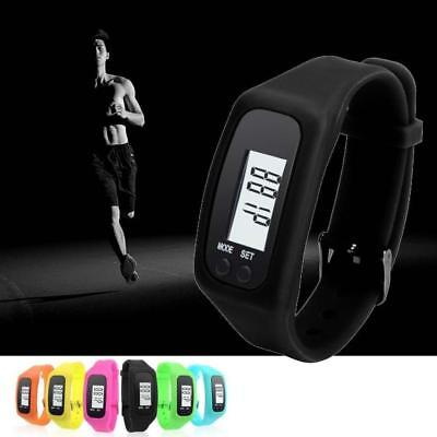 LCD Bracelet Wrist Pedometer Watch Sport Fitness Calorie Step Walking Counter
