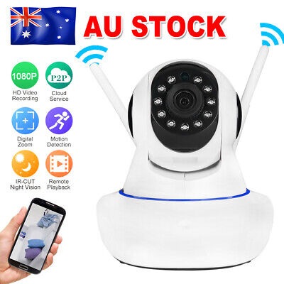 HD 1080P Dual Antenna WiFi Wireless Security Camera P2P IP CCTV PTZ Night Vision