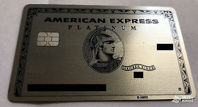 American Express Platinum Card METAL RARE CUSTOMIZED