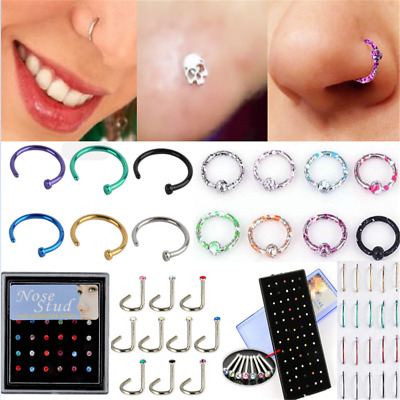 Punk Seamless Hinged Segment Sleeper Ring Hoop Ear Lip Nose Septum Piercing