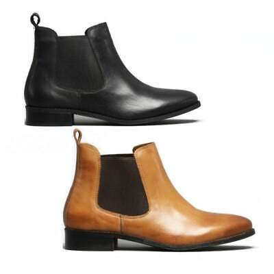 Shuperb PIPPA Ladies Womens Soft Leather Pull On Casual Chelsea Ankle Boots