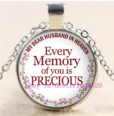 My Dear Husband In Heaven Every Memory Of You Is Precious Pendant Chain Necklace