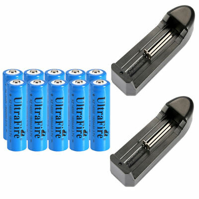 Ultrafire 14500 Battery 1800mAh Li-ion 3.7V Rechargeable Batteries Cell Charger