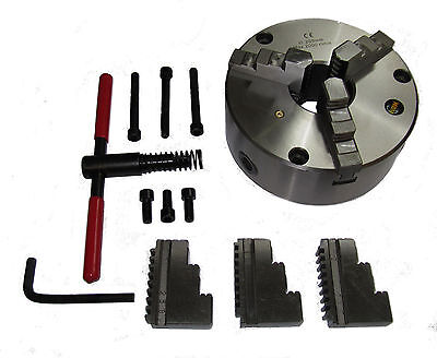 Rdg Tools 160Mm 3 - Jaw Self Centering Lathe Chuck Front Mount Int Ext Jaws